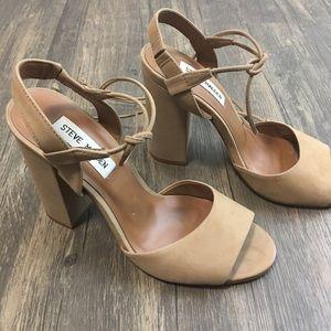 Steve Madden | Nude Block Heel Sandals
